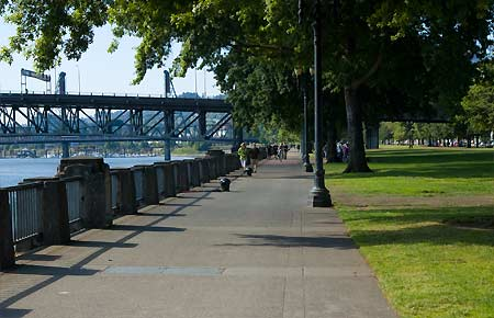Portland Waterfront, downtown west side