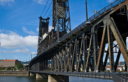 Steep bridge in Portland