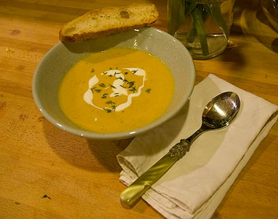 vegetable potage in a bowl